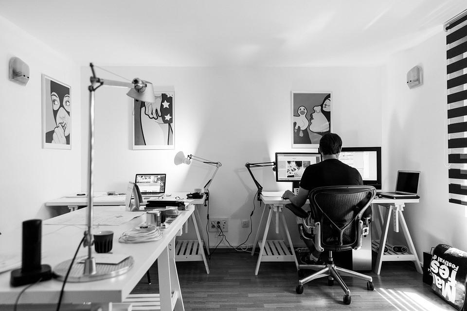 Kantoor, Het Werk, Desk, Computer, Werkplek, Binnen